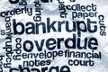 Bankrupt and overdue concept close up of Stock Images