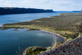 Banks Lake near Steamboat Rock State park in Eastern Washington state, USA Royalty Free Stock Photo