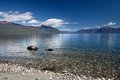 Banks of the Lake Te Anau, New Zealand Royalty Free Stock Photo