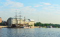 On the banks of the neva river saint petersburg russia Stock Photography
