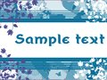 Banner on abstract colorful background with flowers Royalty Free Stock Photo