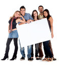 Banner ad - happy friends Stock Image