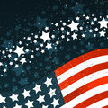 Banner with American flag and abstract texture. Template for the