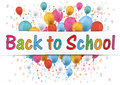 Banner Balloons Letter Numbers Back to School Royalty Free Stock Photo