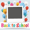 Banner Balloons Photo Back To School Royalty Free Stock Photo