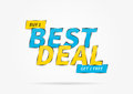 Banner Best Deal Buy Get 1 Free vector illustration