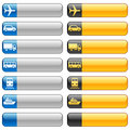 Banner buttons & transport icons Royalty Free Stock Photos