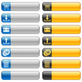 Banner buttons with web icons 2 Stock Image