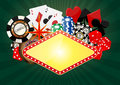 Banner casino Stock Image