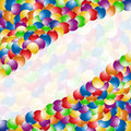 Banner color ball rainbow background Stock Photo
