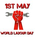 perfect banner for world labour day with a fist