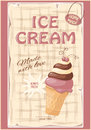 Banner with current ice cream Royalty Free Stock Photo