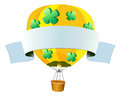 Banner design with hotair balloon flying Royalty Free Stock Photo