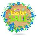 Banner Easter Sale Wooden