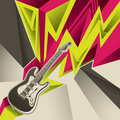 Banner with electric guitar. Royalty Free Stock Photography