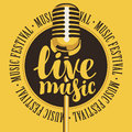 Banner for festival live music with microphone