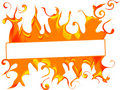Banner with fire Stock Image