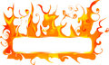 Banner with fire Royalty Free Stock Photo