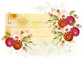 Banner with floral decor and place for your text Stock Photography