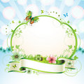 Banner with flowers Royalty Free Stock Image