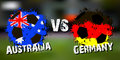 Banner football match Australia vs Germany