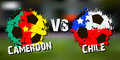 Banner football match Cameroon vs Chile