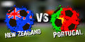 Banner football match New Zealand vs Portugal