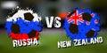 Banner football match Russia vs New Zealand