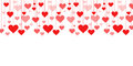 Banner of a garland of hearts  background Valentine's Day, wedding Royalty Free Stock Photo