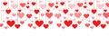 Banner of a garland of hearts background Valentine's Day, wedding