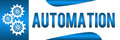 Banner image automation text gears Royalty Free Stock Photography