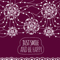 Banner Just smile and be happy Royalty Free Stock Photo