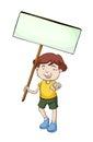 Banner kid Royalty Free Stock Photo