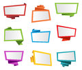 Banner Label Ribbon Tag Origami Vector Royalty Free Stock Photo