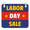 Banner labor day sale logo icon, flat style