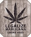 Banner for legalize marijuana with cannabis leaf Royalty Free Stock Photo