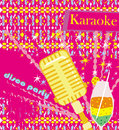 Banner with microphone karaoke party design illustration Royalty Free Stock Images