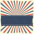 Banner on a patriotic striped background detailed illustration of Royalty Free Stock Photos
