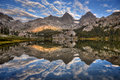 Banner Peak and Mount Ritter Reflection Royalty Free Stock Photo