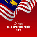 Banner or poster of Malaysia independence day celebration. flag. Vector illustration.