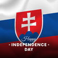 Banner or poster of Slovakia independence day celebration. flag. Vector.