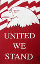 Banner Proclaiming United We Stand Royalty Free Stock Photo
