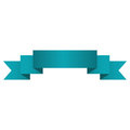 Banner ribbon ocean blue graphic Royalty Free Stock Photo