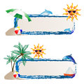 Banner with sea and summer Stock Photo