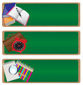 Banner set back to school Royalty Free Stock Photography