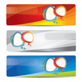 Banner set with colorful abstract design Royalty Free Stock Image