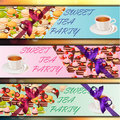 Banner set with sweets