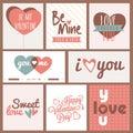 Banner set for Valentine's Day celebration. Royalty Free Stock Photo