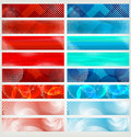 Banner set, vector Stock Image