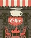 Banner for a sidewalk cafe